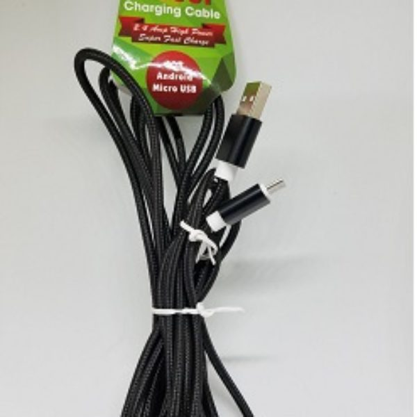 10 Ft. Charging Cable Micro USB Devices & Android Phones