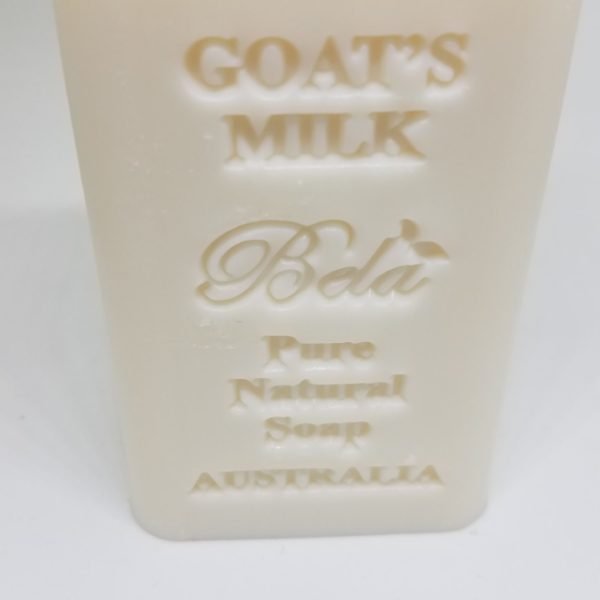Bela Embossed Pure Natural Soap, Goats Milk